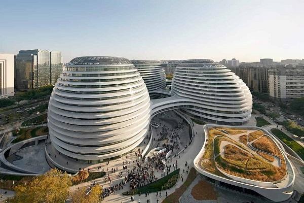 ساختمان سوهو کهکشانی در بیجینگ چین